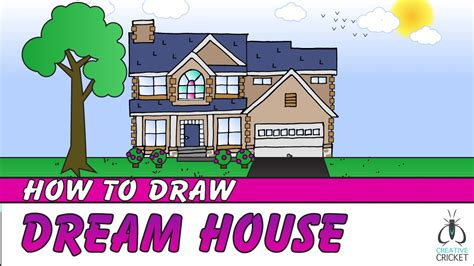 draw my house how to draw a house step by step art lesson for kids