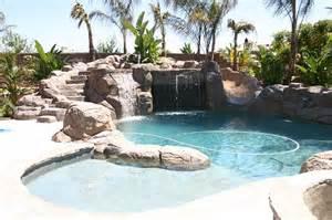 Backyard Rock Pools This Pool But Longer With Rocks Tub Diving