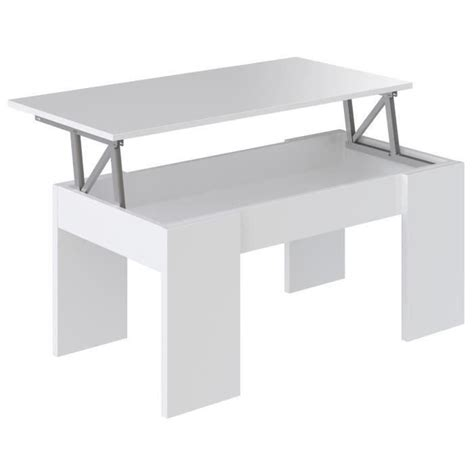 swing table swing table basse transformable 100x50 cm blanc mat