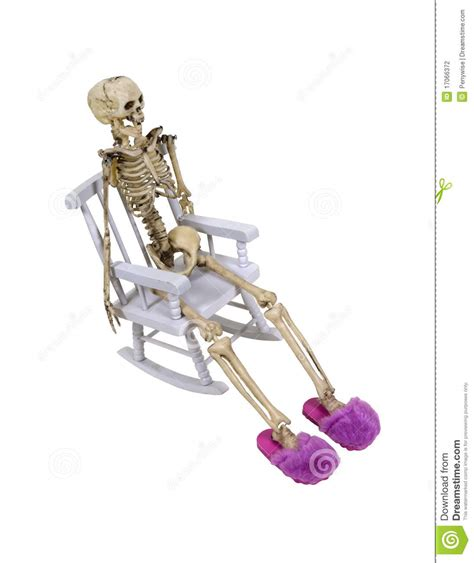 skeleton slippers skeleton relaxing with slippers stock photography image