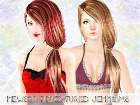 side ponytail sims 3 two romantic side ponytail newsea chantal and tellme