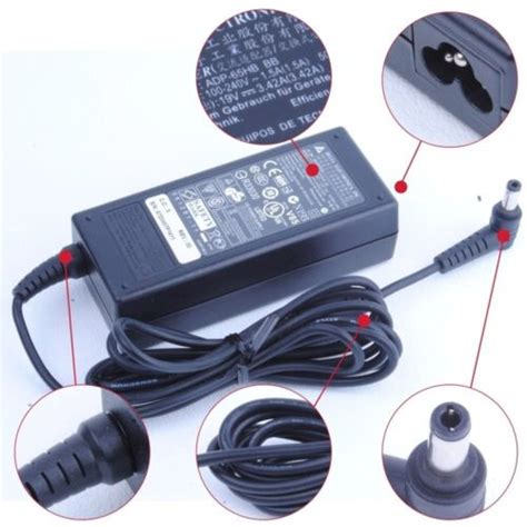 buy best toshiba satellite charger 19v 3 42a 65w with free cable
