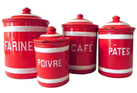 enamel kitchen canisters enamel canister set omero home