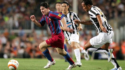 ronaldo vs juventus 2005 29 from the current squad the top scorers are messi 4 and iniesta 3