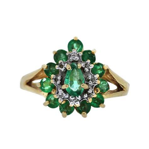 14k yellow gold emerald and ring boca raton