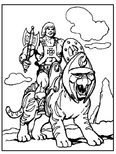 he man coloring pages 80s cartoons colouring pages