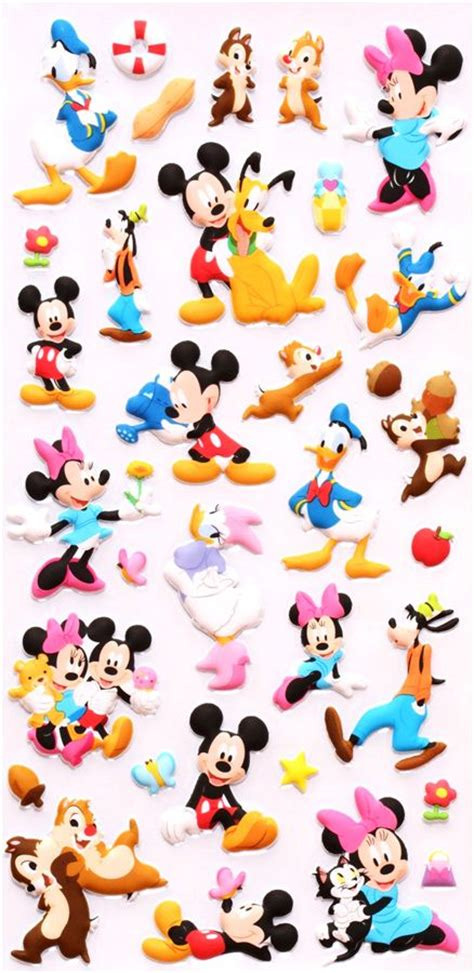 Baby Animal Wall Stickers disney 3d sponge sticker book set mickey mouse donald duck