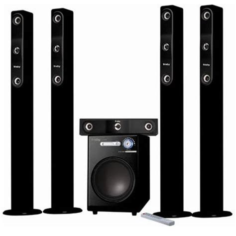 frisby tower wireless surround sound home theater speaker
