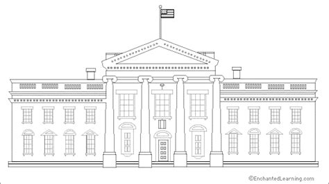 how to draw the white house white house coloring printout enchantedlearning com