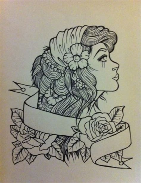 gypsy head tattoo designs 13 designs sles and ideas