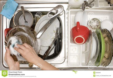 washing dishes in bathroom sink kitchen sink full with dishes stock image image 8302861