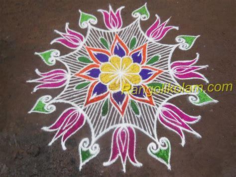 design flower kolam with dots flower kolam design 4 rangoli kolam