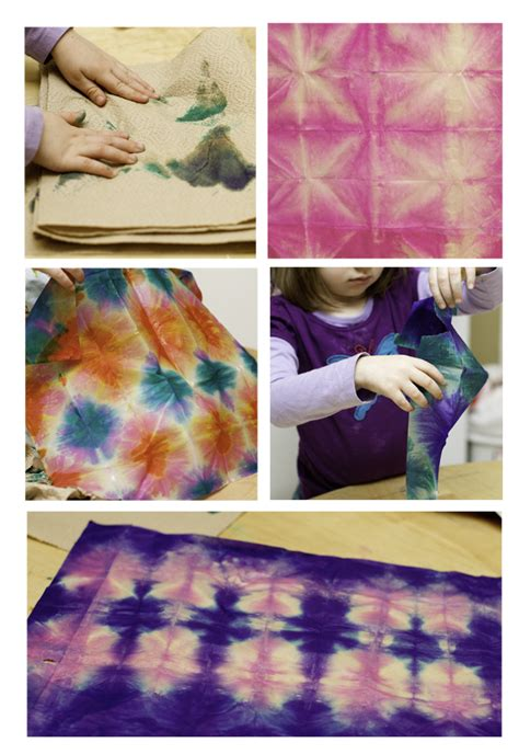 How To Make Tie Dye Paper - no monsters in my bed things to make tissue paper tie dye