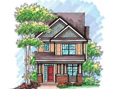 bungalow cottage country house plan 30502 narrow lot narrow lot house plan for the home