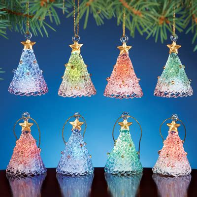 color changing glass christmas tree ornaments from