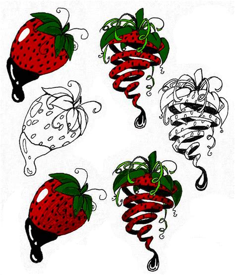 strawberry tattoos designs strawberry tattoos by darkabyssinian on deviantart