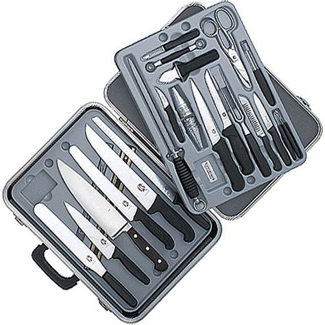 victorinox kitchen knives set victorinox gourmet knife set 24 piece black fibrox
