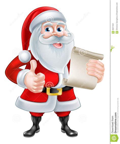cartoon santa  scroll stock vector image