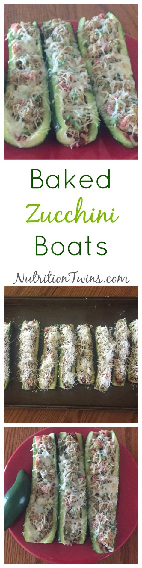 baked zucchini boat recipes baked zucchini boats nutrition twins