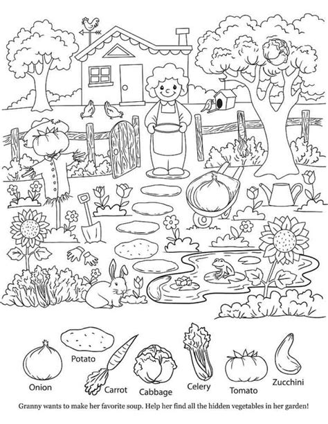 printable hidden pictures for toddlers hidden object coloring pages kids page printable