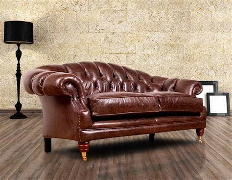 Leather Chesterfield Sofas Uk Buy Chesterfield Settee Leather Furniture Designersofas4u