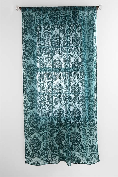 damask velvet burnout curtain 17 best images about windows on pinterest teal fabric