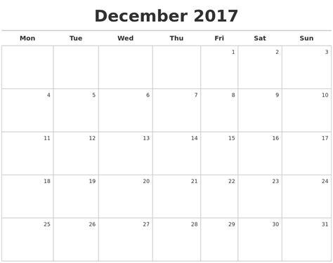 december calendars december 2017 calendar maker