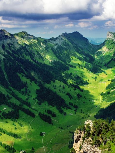 wallpaper justis valley scenery bernese alps