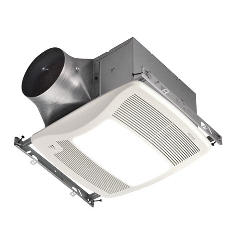Bathroom Light Fan Shop Broan 0 3 Sones 110 Cfm White Bathroom Fan Room And Light Energy At Lowes