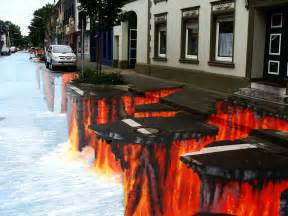 Stunning optical illusions created by street chalk artists 37