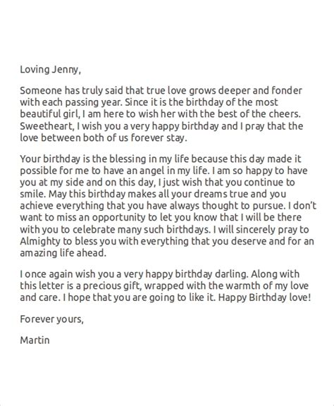 birthday love letters sample love letters for her 7 examples in word
