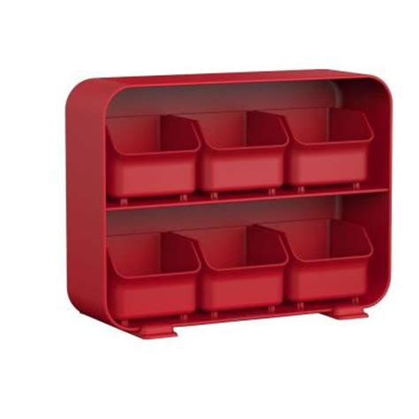 tea drawer mind reader clutch 6 drawer tea bag holder in red stborg
