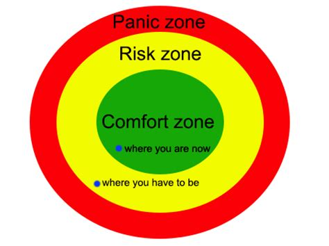 what is a comfort zone comfort zone risk zone and panic zone all in one