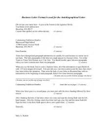 standard business letter format template