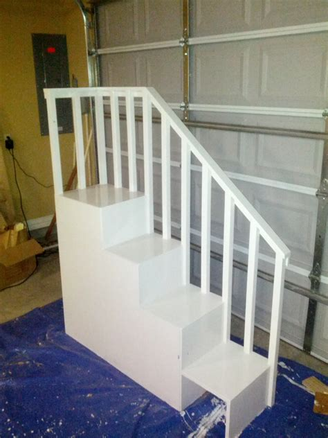 classic bunk bed  sweet pea stairs ana white