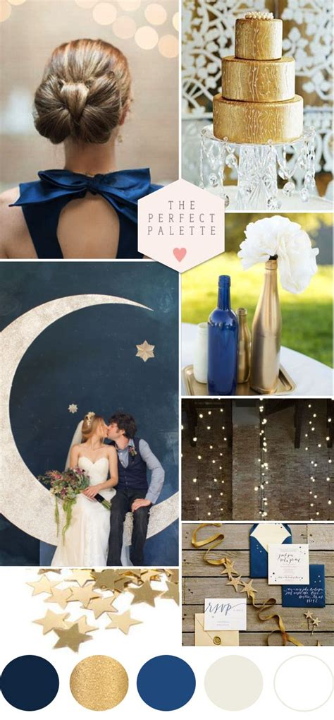 twinkle twinkle blue gold wedding ideas
