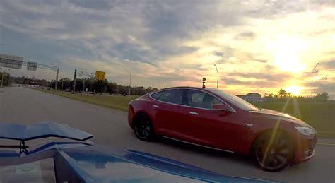 Vs Lamborghini Race Tesla Model S P85d Vs Lamborghini Aventador Drag Race