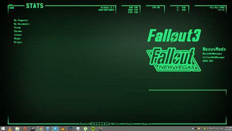 theme windows 10 fallout fallout pipboy wallpaper for pc wallpapersafari