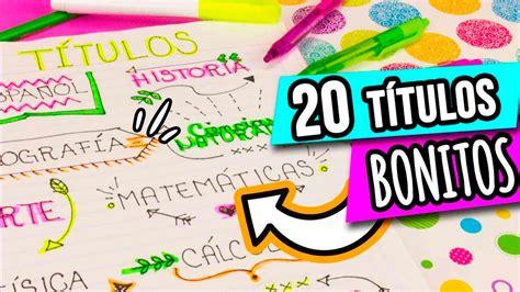 para decorar apuntes 20 ideas para decorar tus apuntes catwalkcanal