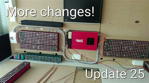 diy tesla powerwall diy tesla powerwall more changes update 25 youtube