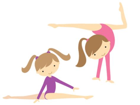 gymnastics clipart clipart gymnast pencil and in color