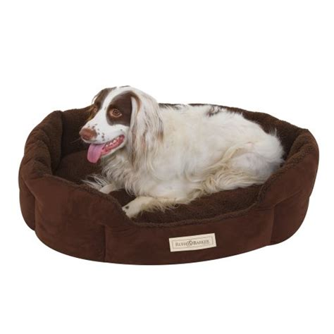 barker dog bed ruff barker 174 oval dog bed brown dog nest large dog