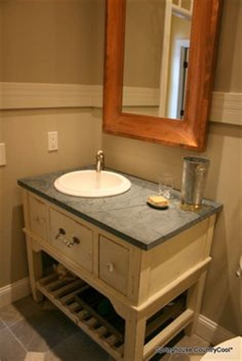 Soapstone Vanity Top by The Project Wood Cabinet To Hide Pipes