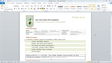 design form using word 2010 word 2010 forms
