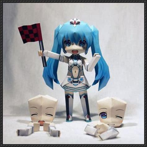 Papercraft Figures - vocaloid chibi hatsune miku ver 27 free figure