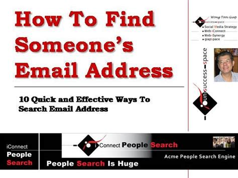 Find Peoples Email Address Free How To Find Someone S Email Address Authorstream