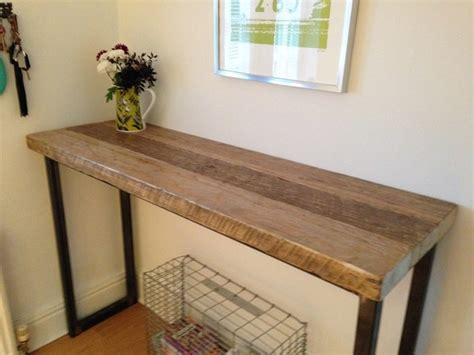 Kitchen Breakfast Bar Table Uk Industrial Mill Reclaimed Wood Breakfast Bar Console Table