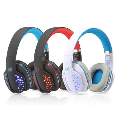 Kotion Each 2 In 1 Bluetooth Wireless Gaming Headset Bass B3505 kotion each b3507 bluetooth 4 1 wireless foldable stereo headset with microphone led