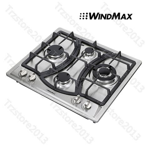 lpg cooktops windmax 23 quot kitchen curve stainless steel 4 burner ng lpg