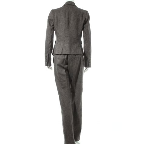 Original Zara 12 zara trouser suit grey flecked business style